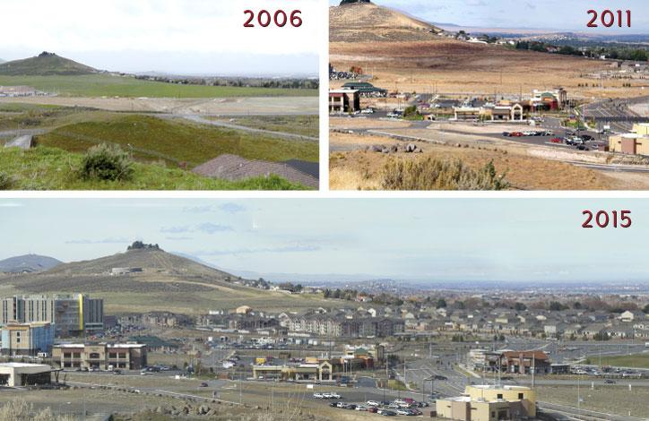 Southridge Kennewick Progress, 2006 2011 2015
